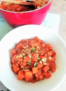 Warming, curry pumpkin and bean stew Dinner Grainfree Lunch vegan